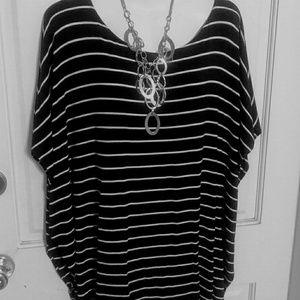 Classy Michael Kors black/white striped blouse